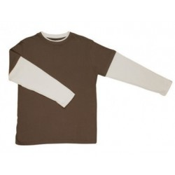 Double Sleeve & Rib T-shirt - T333DS
