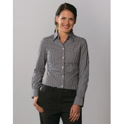 Ladies Gingham Check Long Sleeve Shirt - M8300L