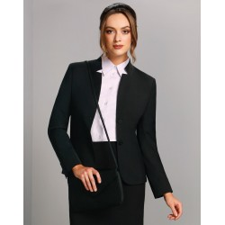 Ladies Wool Blend Stretch Reverse Lapel Jacket - M9202