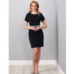 Ladies Poly/Viscose Stretch Short Sleeve Dress - M9282