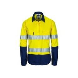 edb85e687857 Ladies HiVis Cool-Breeze Cotton Shirt with 3M R Tape L S -