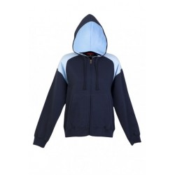 Ladies/Juniors Shoulder Contrast ZIP Hoodie - FZ33UN