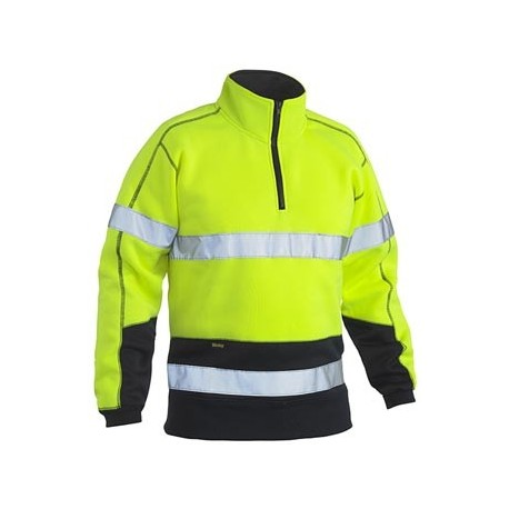 Taped Hi Vis Fleece Pullover - BK6989T