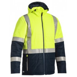 Taped Two Tone Hi Vis Puffer Jacket - BJ6929HT