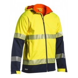 Taped Two Tone Hi Vis Ripstop Softshell Jacket - BJ6934T